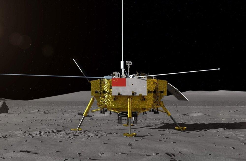 Hiina kosmosesond maandus Kuu tagaküljele