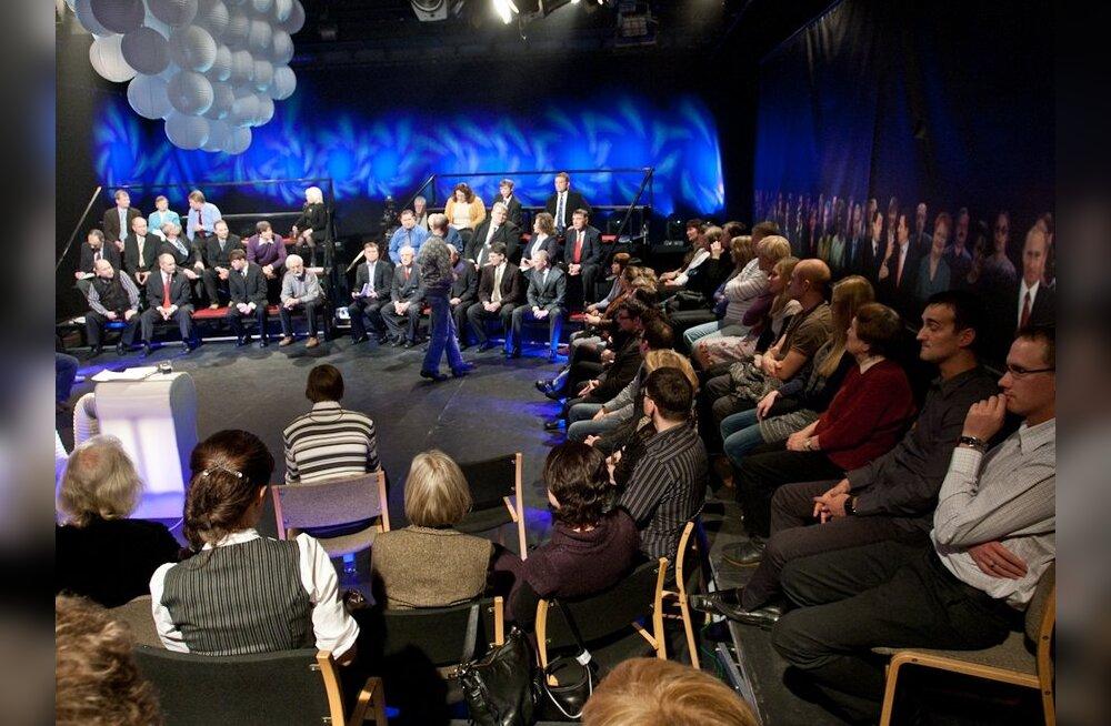 FOTOD: Telestuudiosse kogunes 28 üksikkandidaati