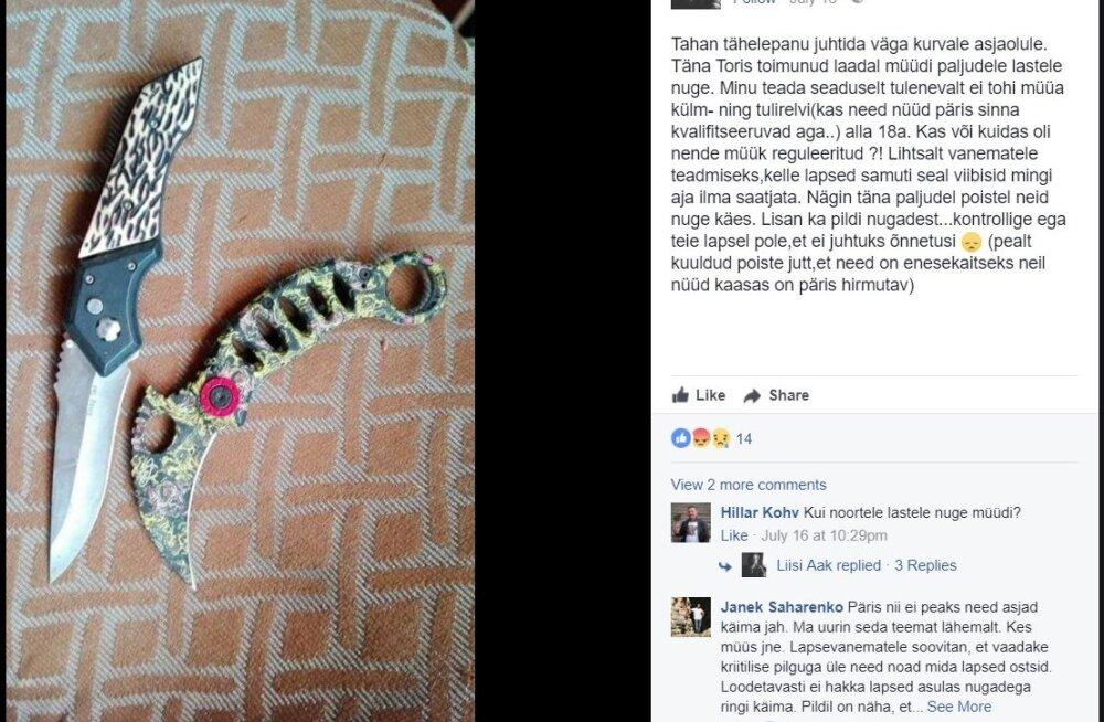 На эстонской ярмарке в Тори детям продавали ножи