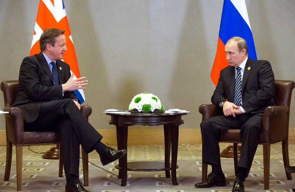 Vladimir Putin (paremal) ütles, et ta ei saa aru, miks David Cameron üldse referendumi korraldas. Nende viimatisel kohtumisel, mullu novembris toimunud G20 tippkohtumisel, ei taibanud ta seda ilmselt küsida.