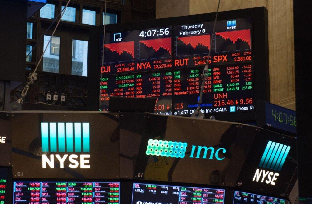 """""""Veresaun"""" USA aktsiaturul jätkub"""