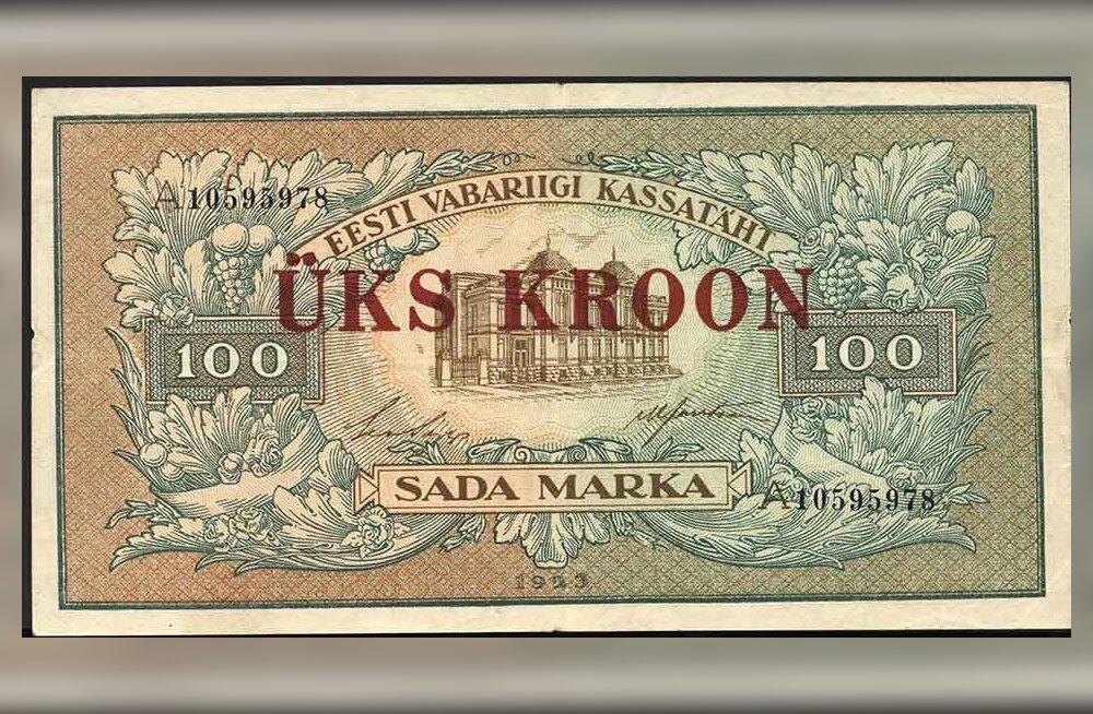 90 aastat tagasi: Eestis rahareform, kus raha õigeks ajaks valmis ei saanud