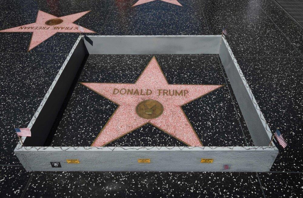 JÄLLE: Donald Trumpi kuulsuste alleel olev täht rüüstati