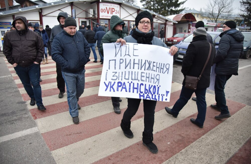 Митингующие перекрыли дороги на границе Польши и Украины