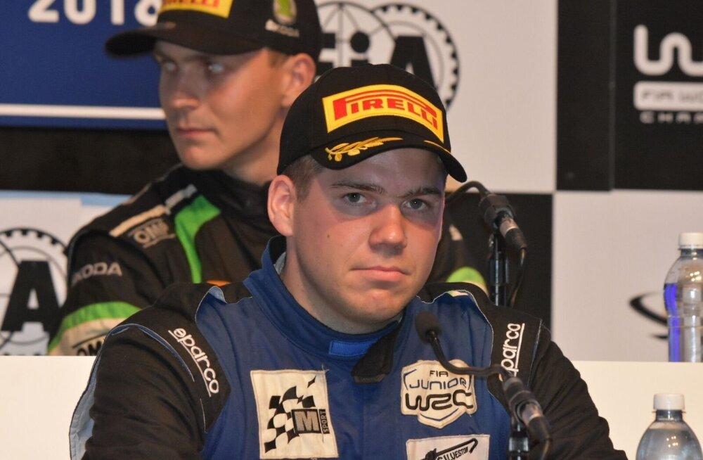 Ken Torn elu esimesel tõeliselt suurel pressikonverentsil – Soome MM-ralli Juunior WRC klassi võitjana