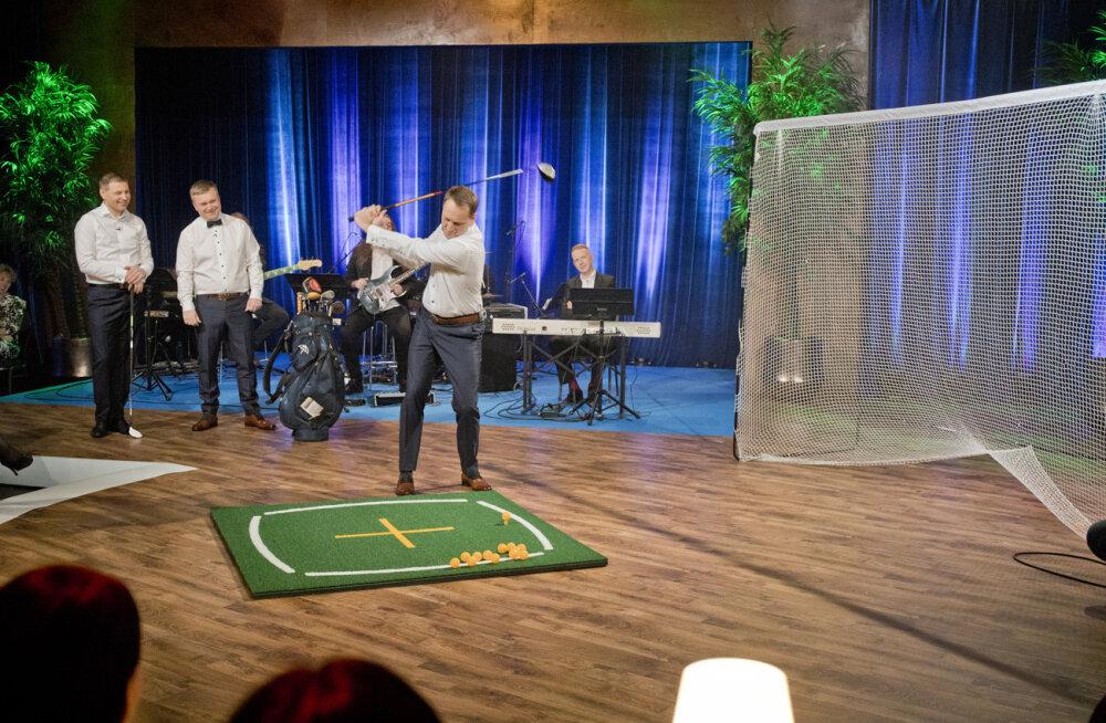 """""""Nädalõpp Kanal 2ga"""" hooaja sportlik algus: Hanno Pevkur õpetab saatejuhid golfi mängima"""