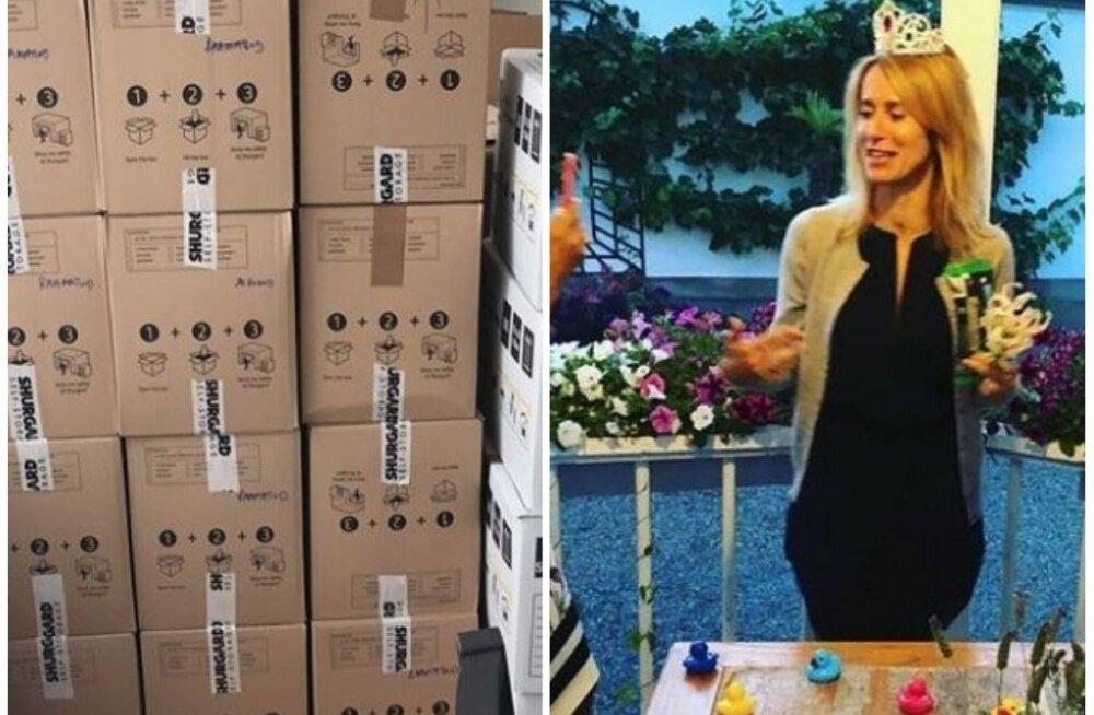 ФОТО: 45 коробок, корона и резиновые уточки — как Кая Каллас возвращается из Брюсселя на родину