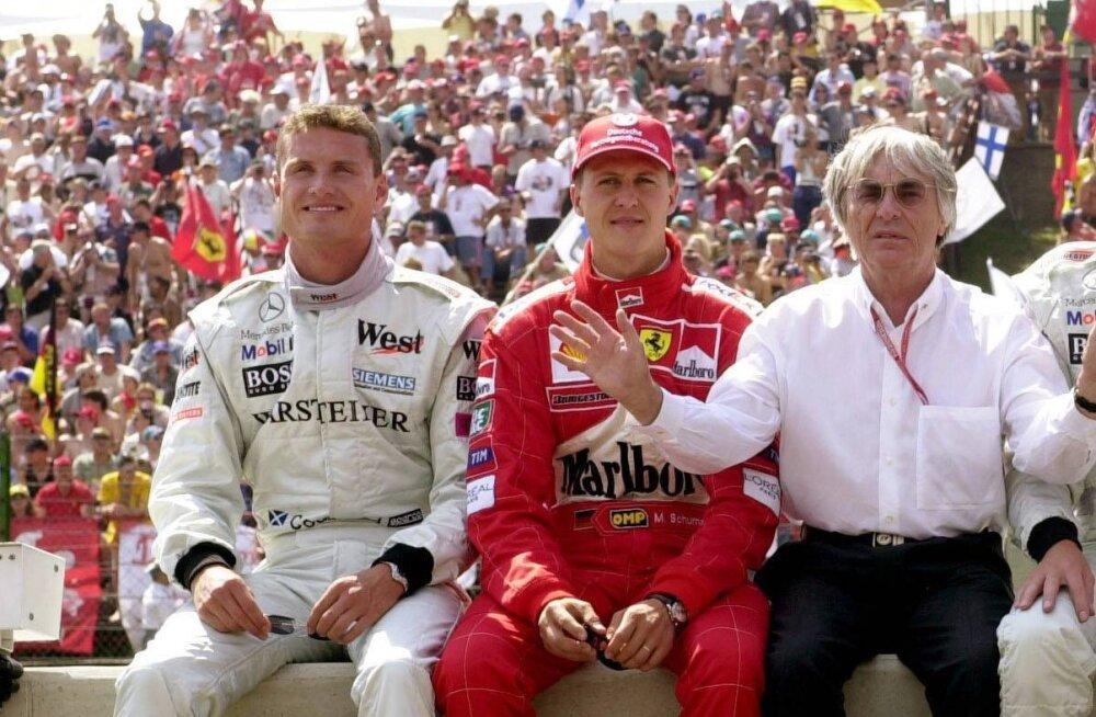 David Coulthard ja Michael Schumacher
