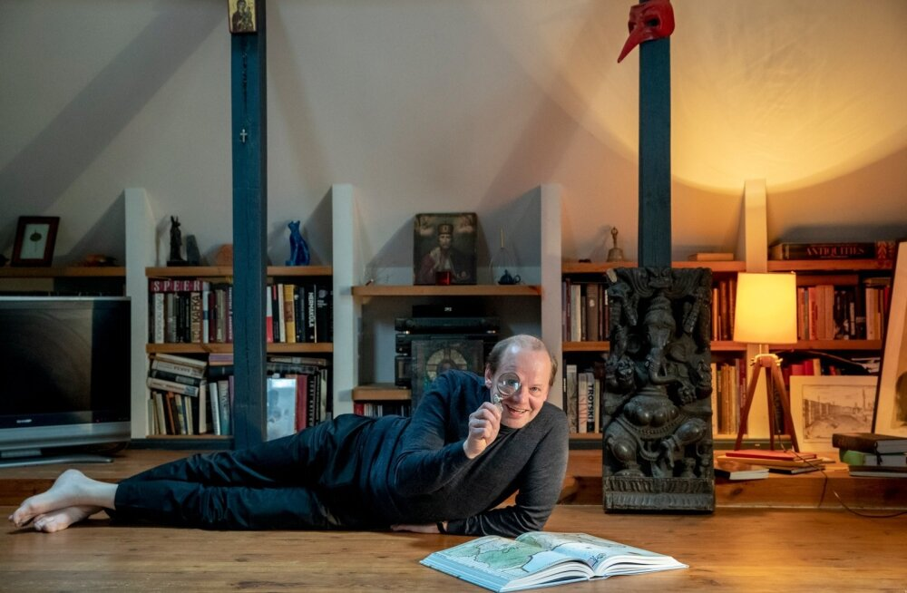 Hendrik Toompere kodus on palju reisiraamatuid ja tema muljeid kaugetest maadest võiks kuulama jäädagi.
