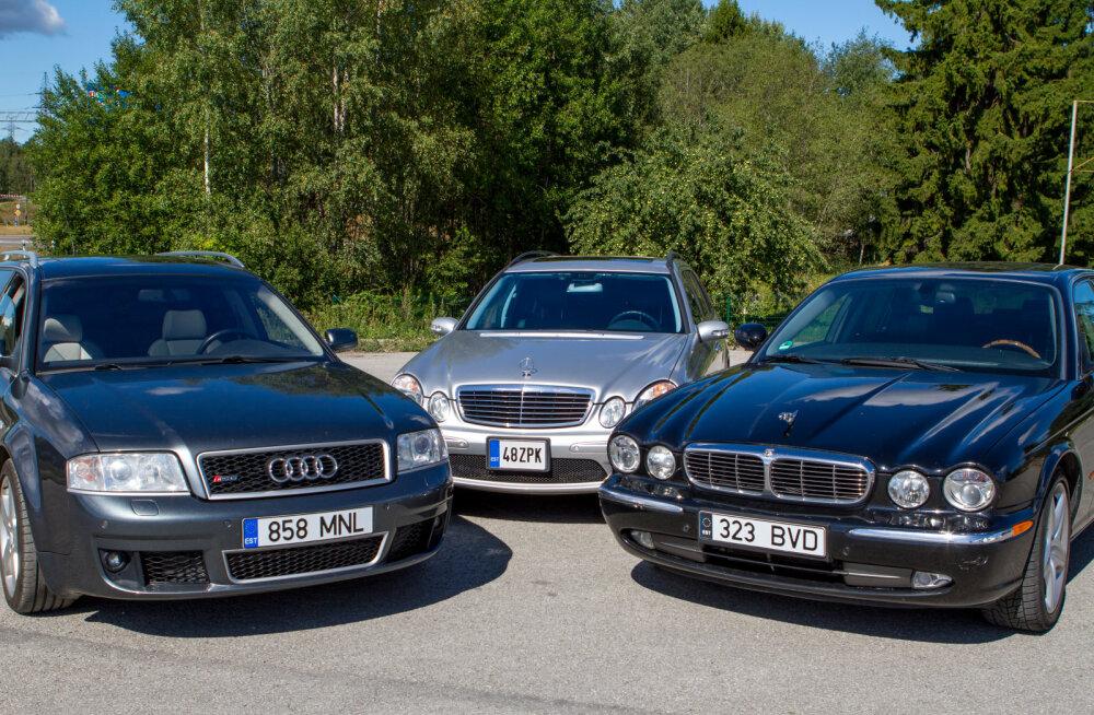Milline superpereauto võidab? Kas Audi RS6, Jaguar XJ Super V8 või Mercedes E55 AMG?