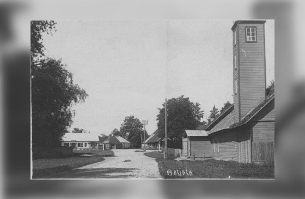 Vaade Haljala aleviku südamele 1936. aastal