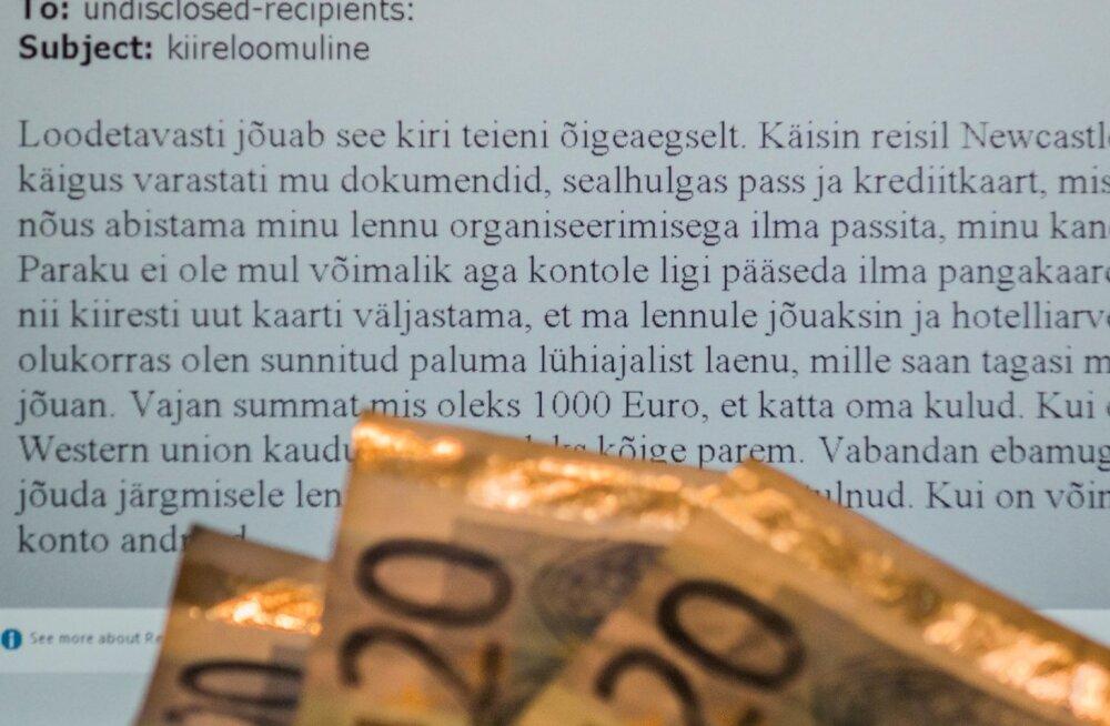 Õngitsuskirjad küsivad tuhandeid eurosid