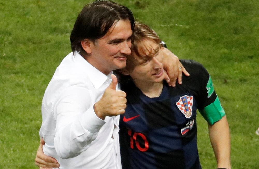 Zlatko Dalic ja Luka Modric