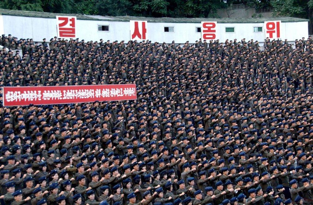 Põhja-Korea teatel on 3,5 miljonit inimest avaldanud soovi vabatahtlikuna armeesse astuda