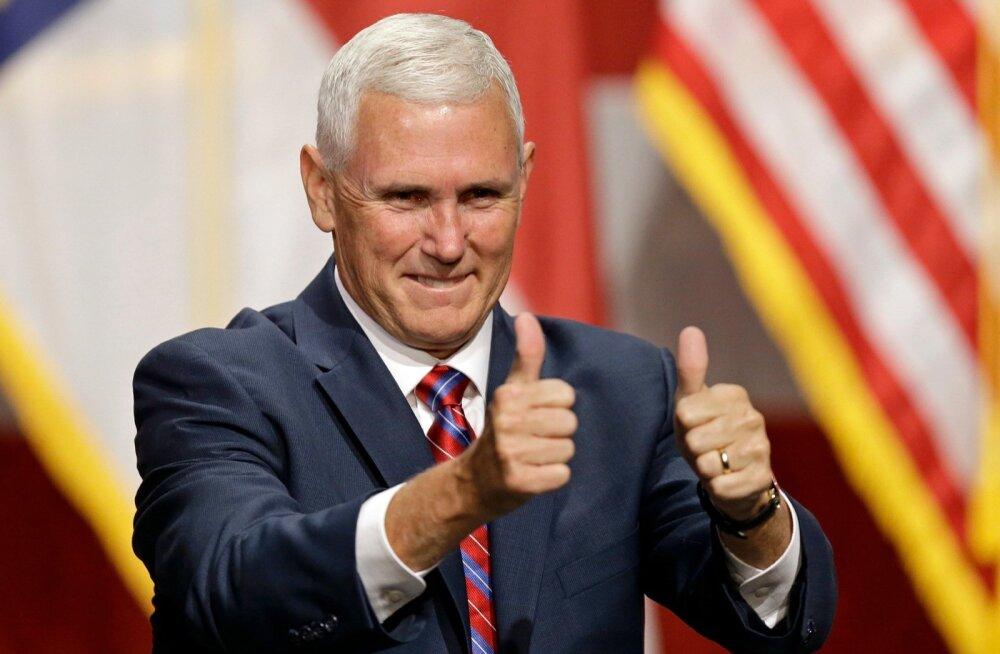 Vabariiklaste asepresidendikandidaat Mike Pence