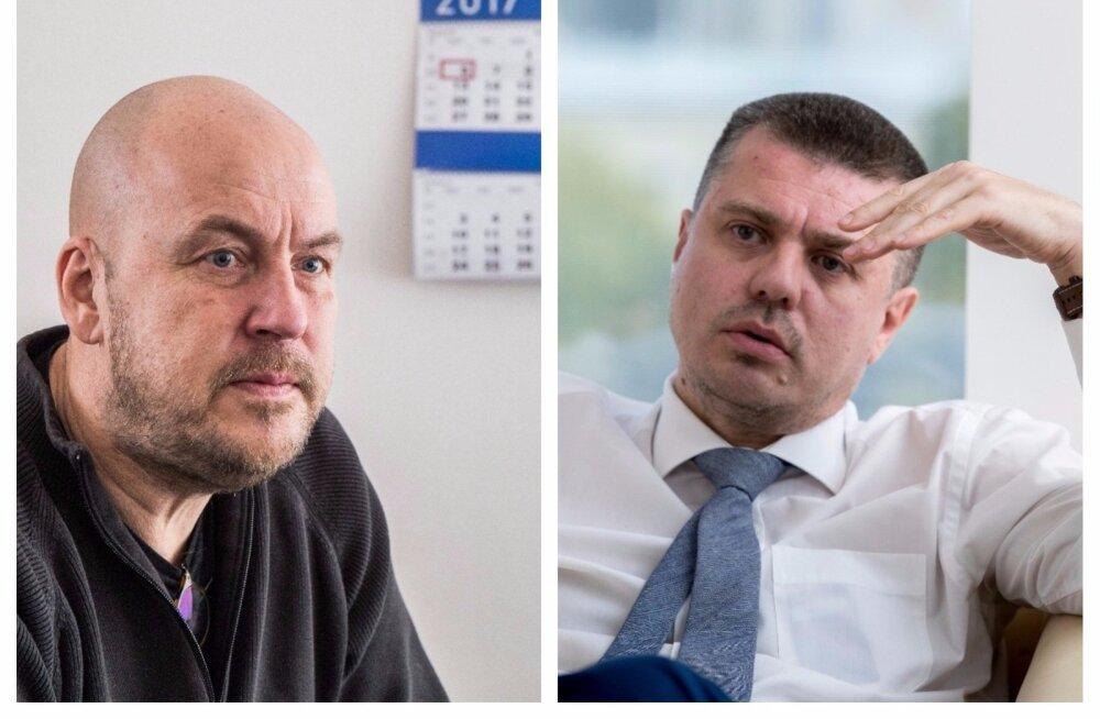 Vabaerakonna juhtfiguur Artur Talvik ja justiitsminister Urmas Reinsalu