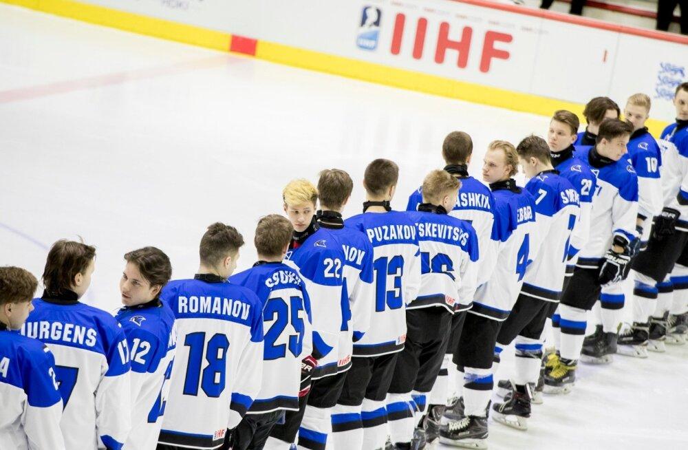 U18 jäähoki MM mängud Tallinnas Eesti vs Suurbritannia