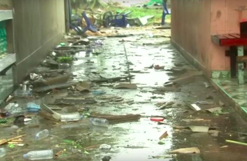 FOTOD ja VIDEO   Nädalavahetusel tabas Tai lõunaosa torm, mis tõi kaasa suuri kahjustusi
