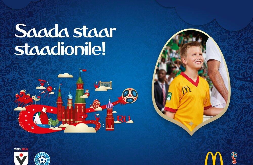 McDonald's saadab ühe Eesti lapse jalgpalli-MM-i finaalmängule