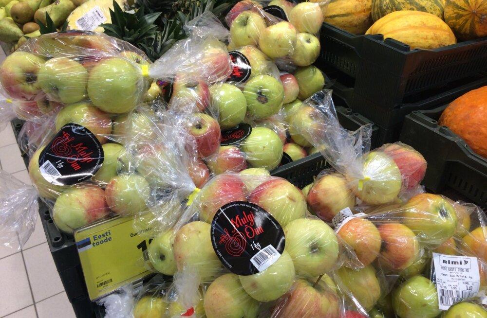 Alt paistev sordinimi kuulub teistele õuntele. Pakendis olevate õunte kohta kaupluses teave puudus.
