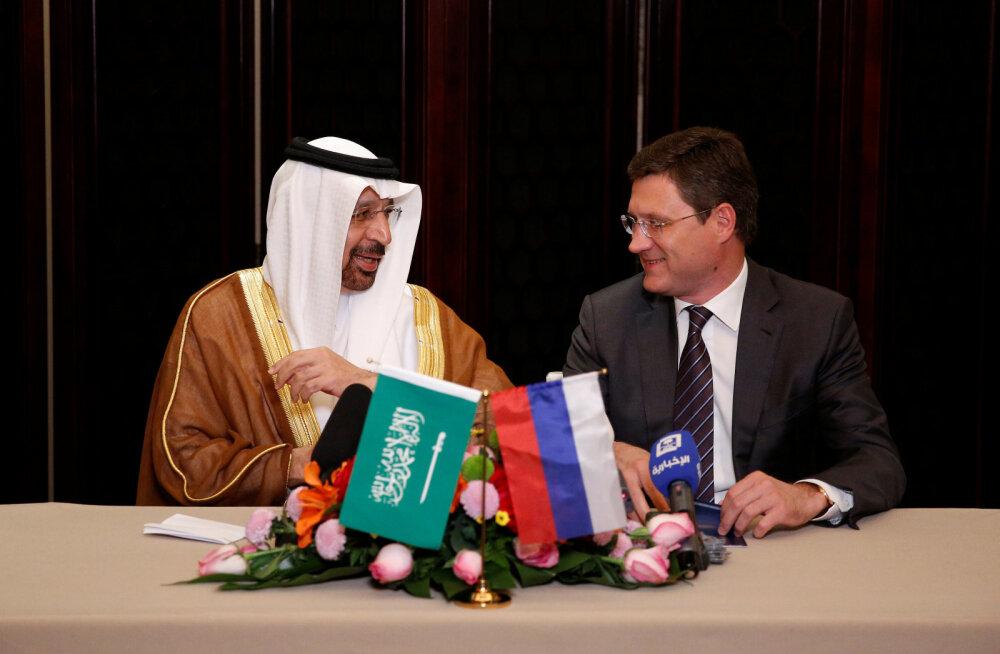 Saudi Araabia ja Venemaa lubadused panid nafta hinna hüppama