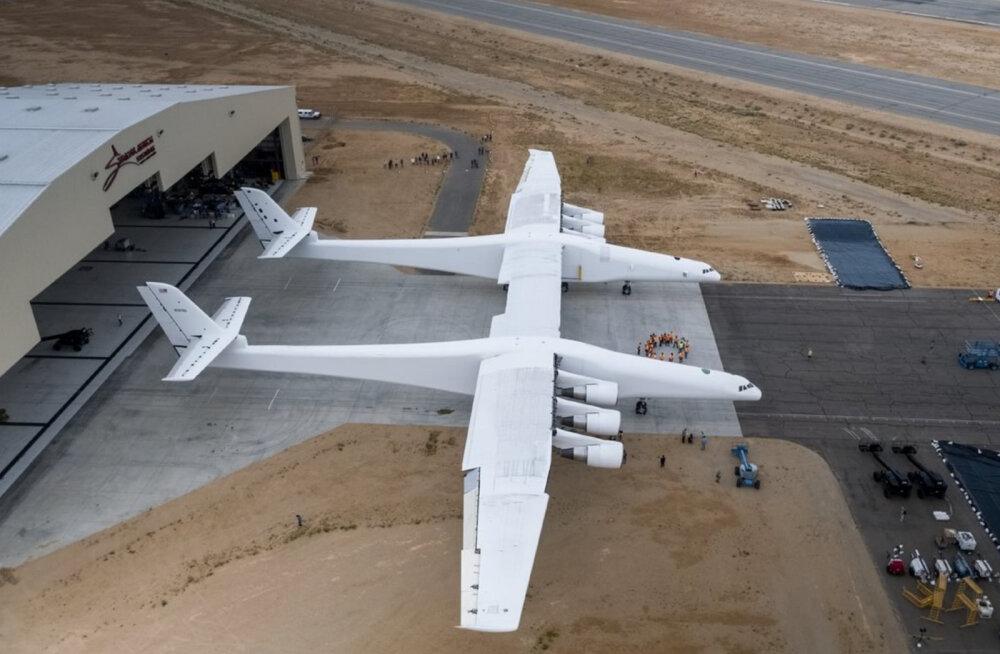 Juba sel suvel: maailma suurima tiivaulatusega lennuki avalend toodi lähemale