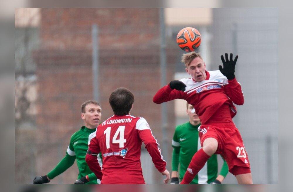 Jalgpall Jõhvi Lokomotiv vs Flora