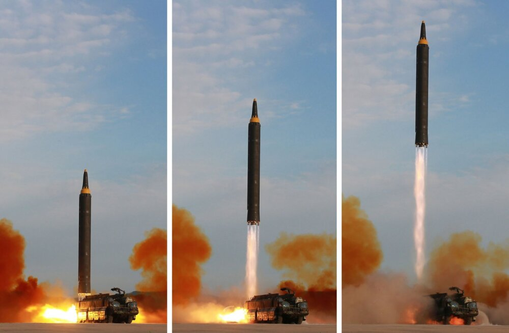 Põhja-Korea tulistas välja järjekordse ballistilise raketi, mis maandus Jaapani lähistel meres