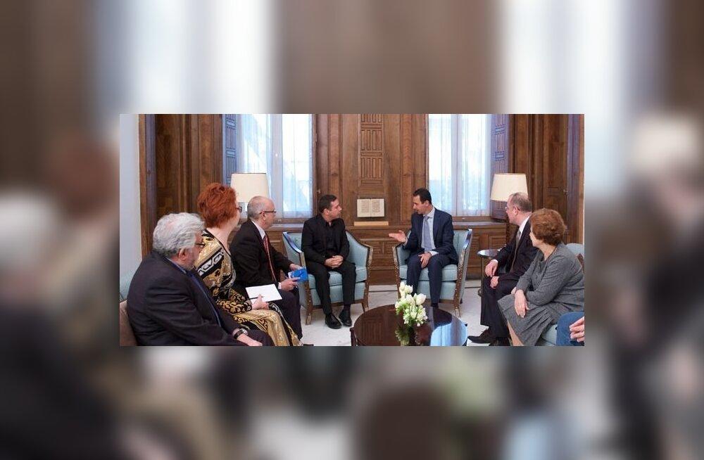 ФОТО: Яна Тоом в Сирии. Агентство сообщило подробности встречи Асада с делегацией Европарламента