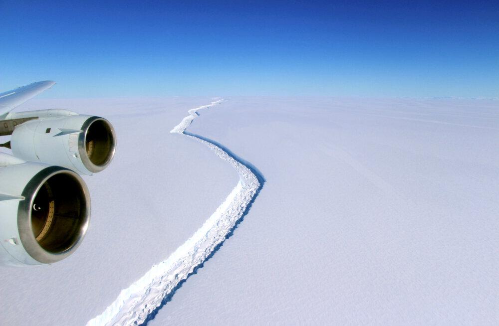 Antarktika liustiku küljest murdus äsja lahti paari Eesti maakonna suurune hiidjäämägi