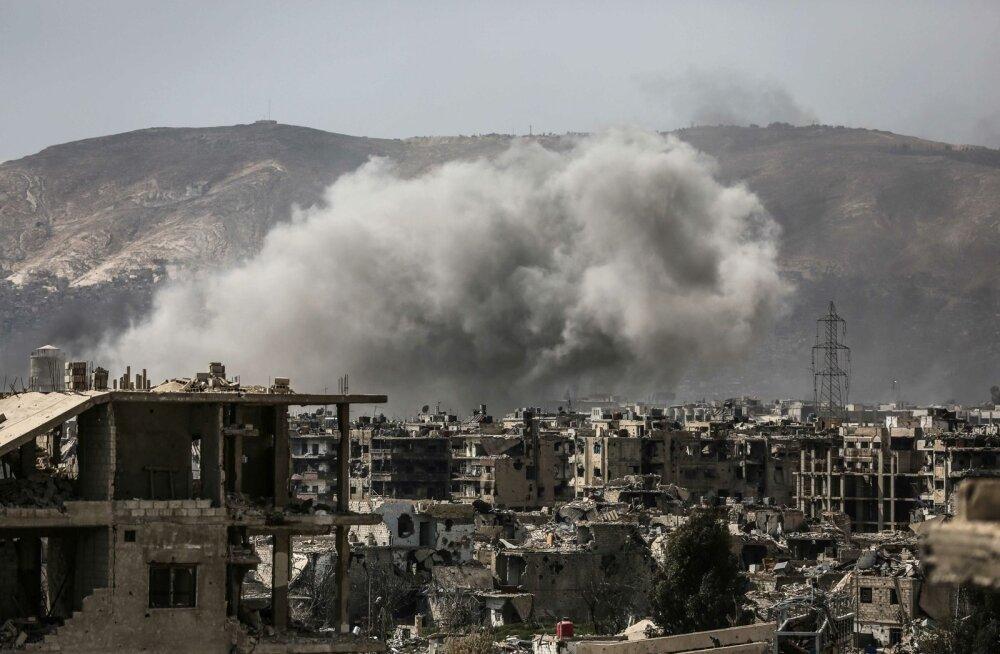 Damaskuses toimusid mässuliste üllatusrünnaku järel ägedad lahingud