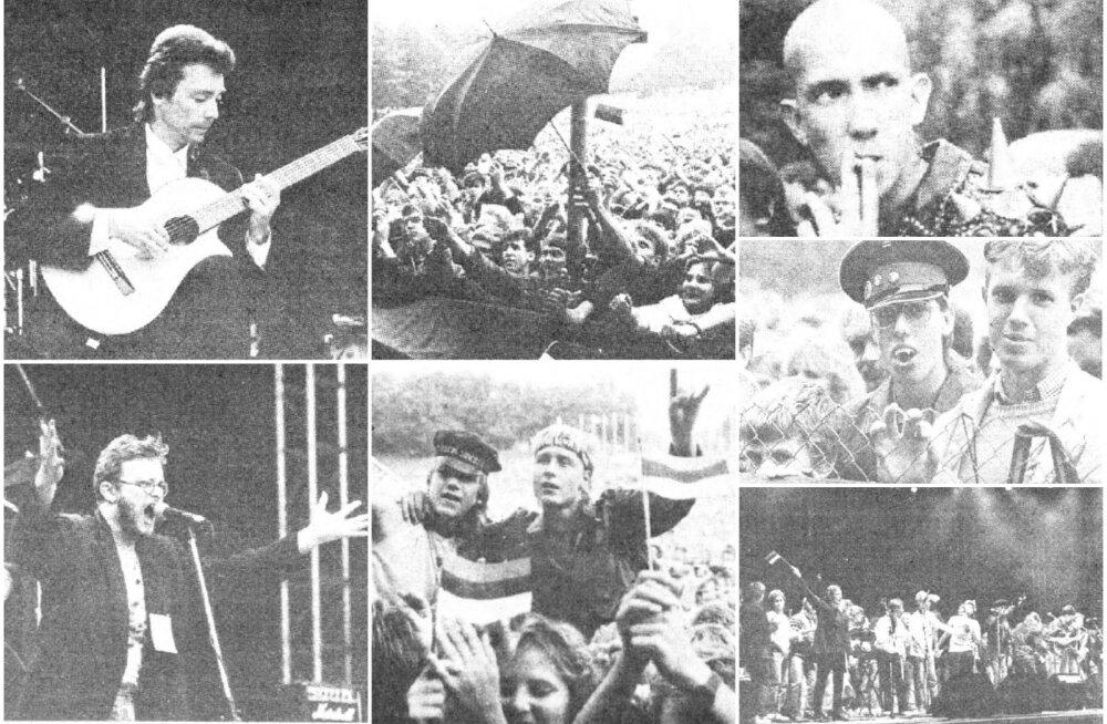 Selline peabki vabadus olema: <i>rock'n'roll</i> ja suured maailmastaarid lauluväljakul!