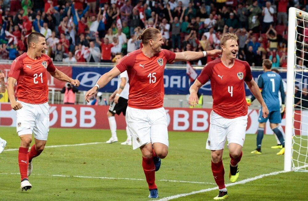 Austria koondislased on löönud Saksamaale värava