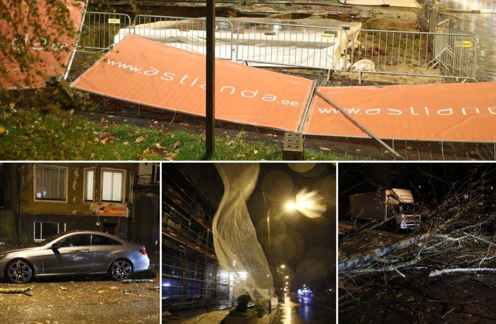 ФОТО: Ночью по всей Эстонии бушевал шторм, более 9600 домохозяйств остались без электричества