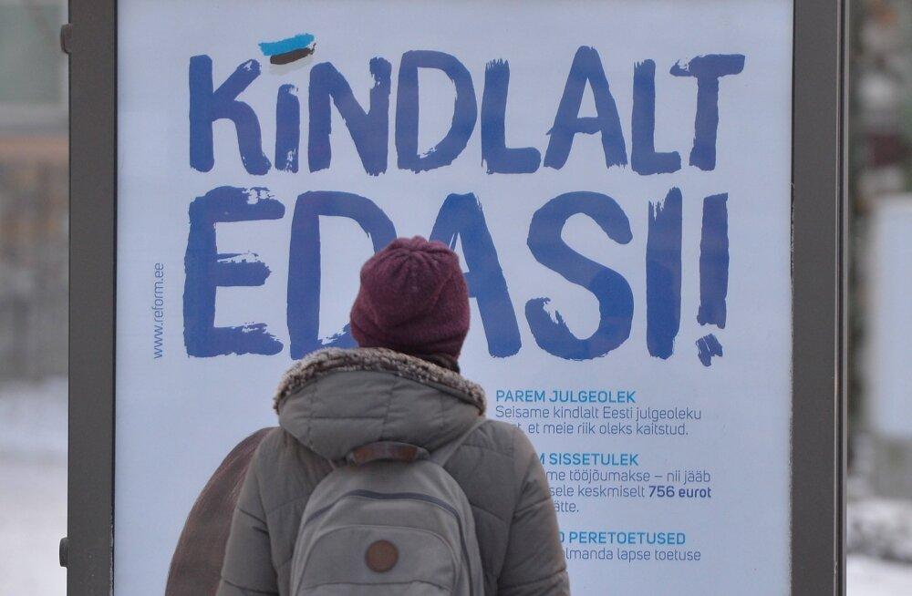 Poliitkampaania linnas 5 jaanuar 2015
