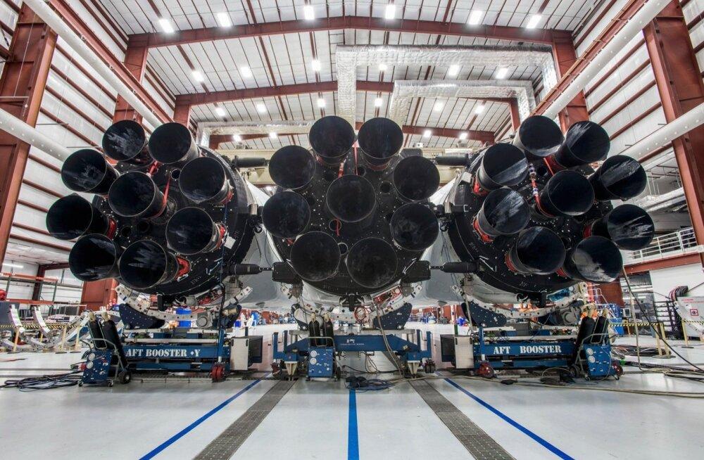 Falcon Heavy Cape Canaverali neemel möödunud aasta detsembris