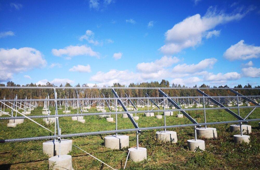 Pärnu külje alla kerkib Eesti suurim päikeseelektrijaamade kompleks