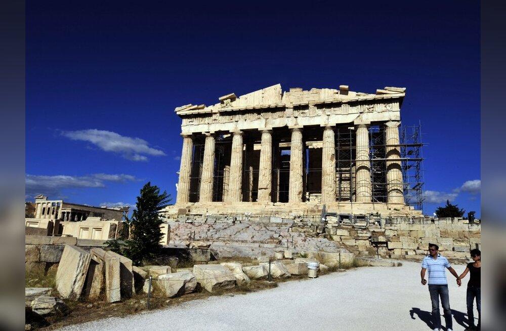 Itaalia ajaleht: Soome tahtis Kreeka laenu tagatiseks Ateena Akropoli