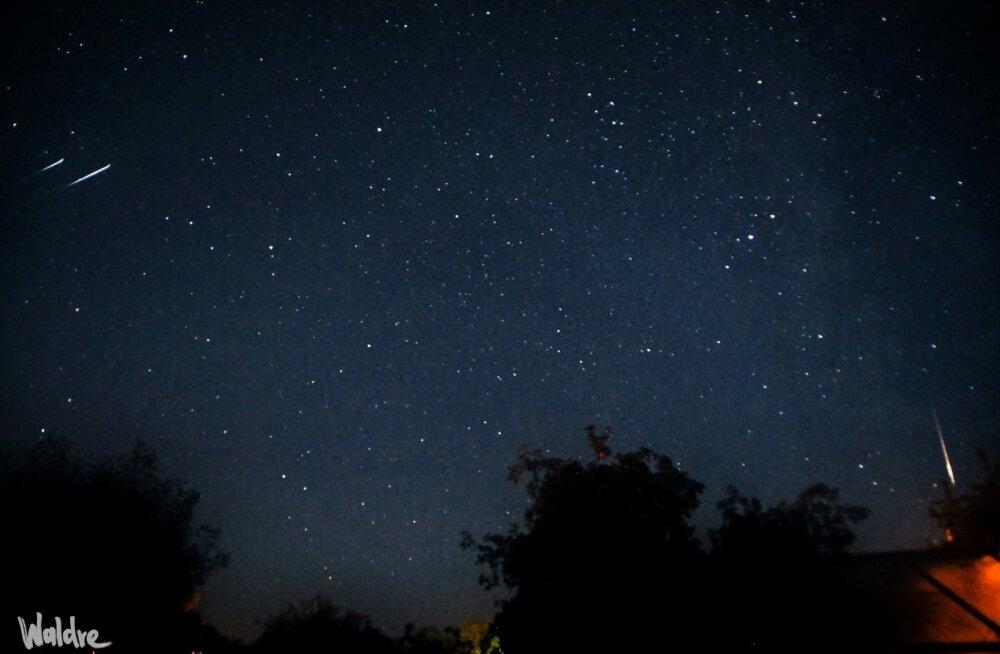 Tähesadu Eestimaa taevas