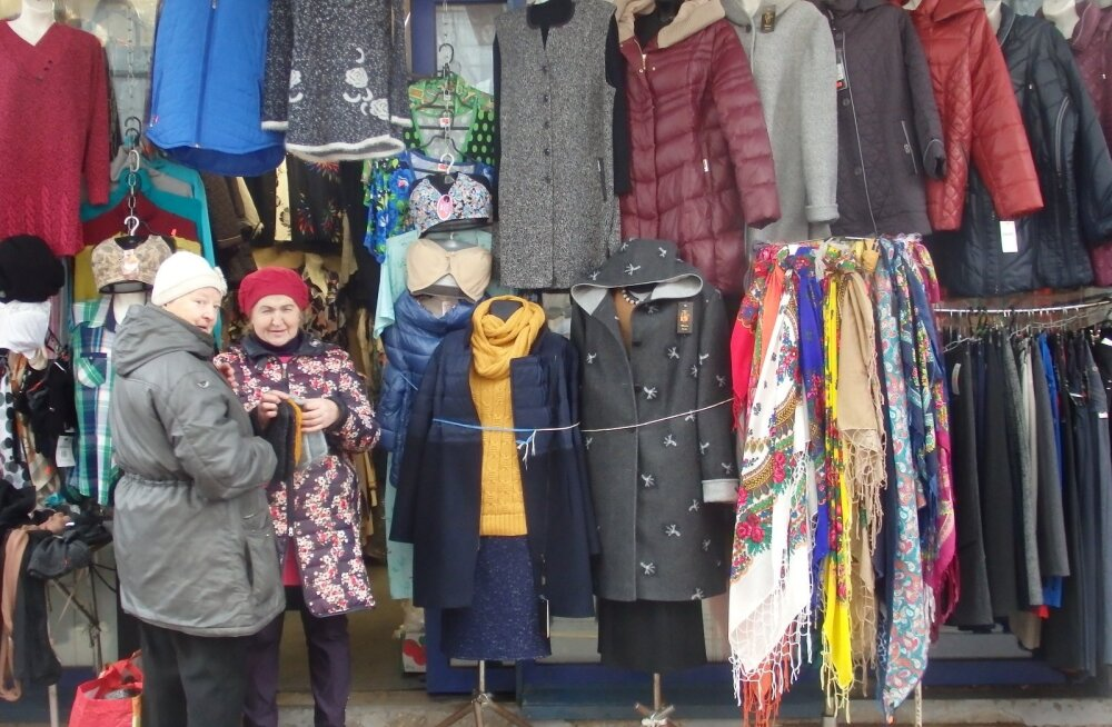 Riidekaup on üsna sarnane nii meie turgudel kui Riias.