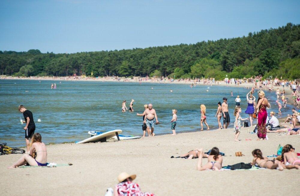 Puhkajatel ei vea. Vaevalt jõudis merevesi uuesti soojaks minna, kui juba on platsis sinivetikad.