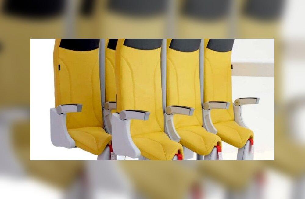В Германии показали модели стоячих мест для будущих самолетов