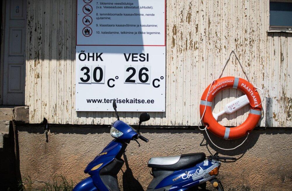 ФОТО и ОНЛАЙН-БЛОГ | Полные пляжи и плавящийся асфальт: в Эстонию пришла настоящая жара!