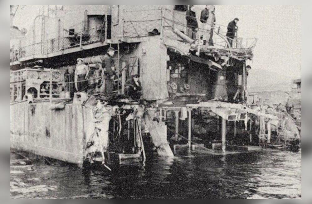 Beringi väinast leiti II maailmasõja käigus tükkideks plahvatanud USA hävitaja ahtriosa