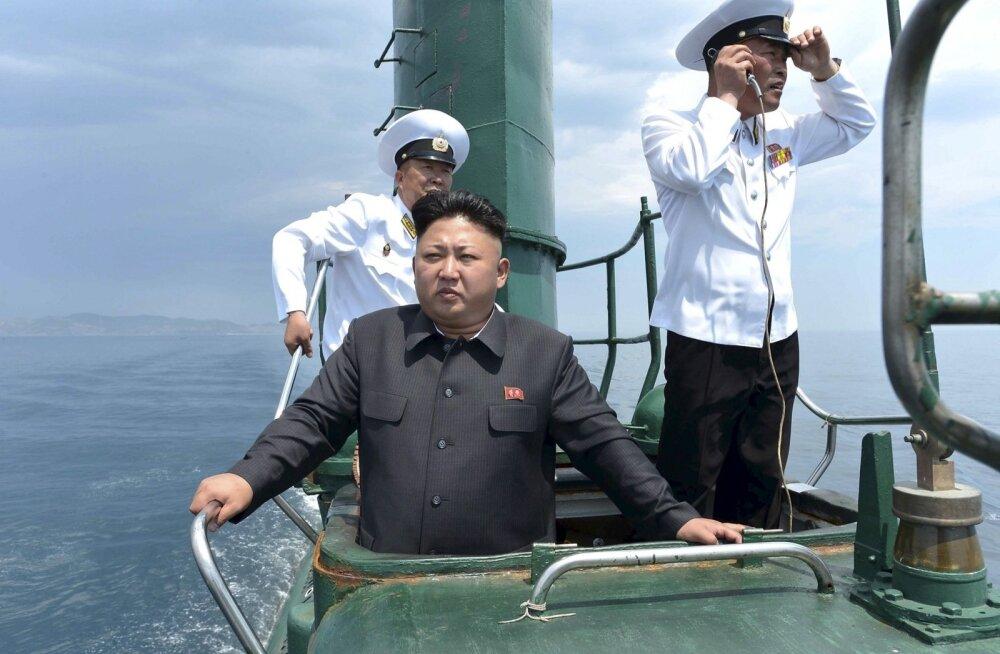 """USA instituut: satelliidifotod viitavad ballistilisi rakette kandva allveelaeva """"agressiivsele"""" ehitamisele Põhja-Koreas"""