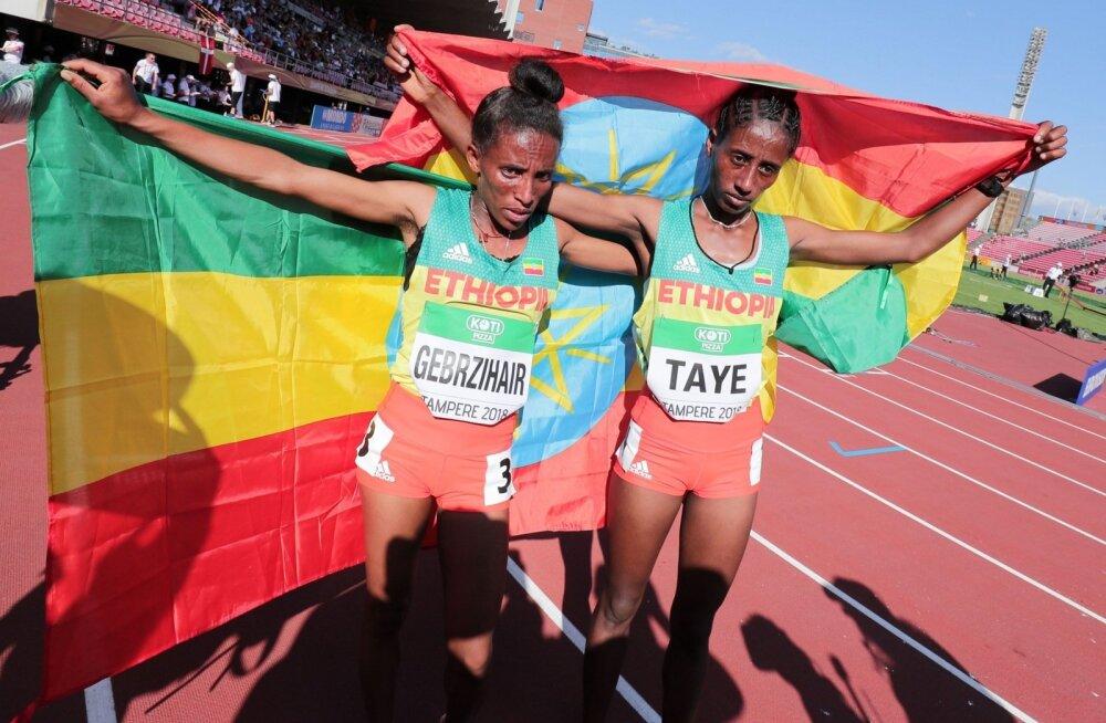 U20 MMil 5000m jooksus medalile tulnud Etioopia neiud