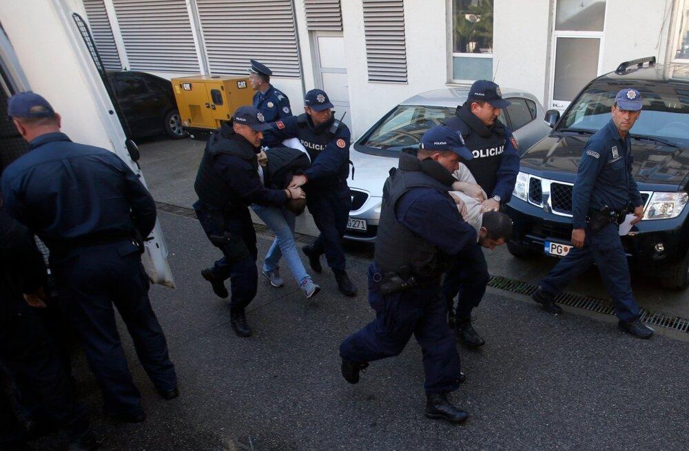 Pealinnas Podgoricas vahistati 16. oktoobril 20 inimest, praeguseks on kahtlusaluseid 25.