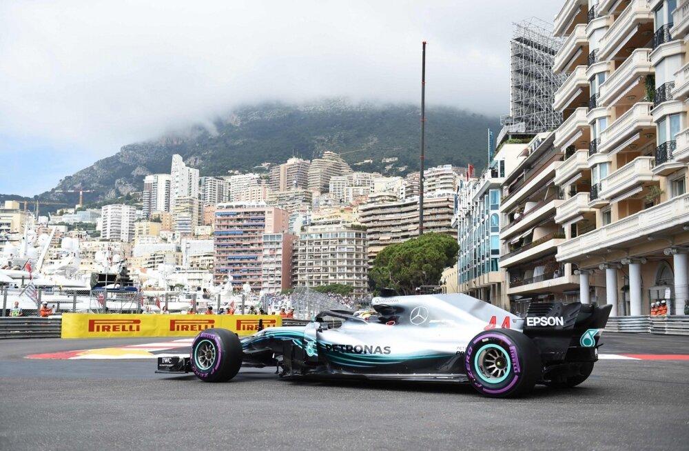 Lewis Hamilton Monaco GP neljapäevasel vabatreeningul
