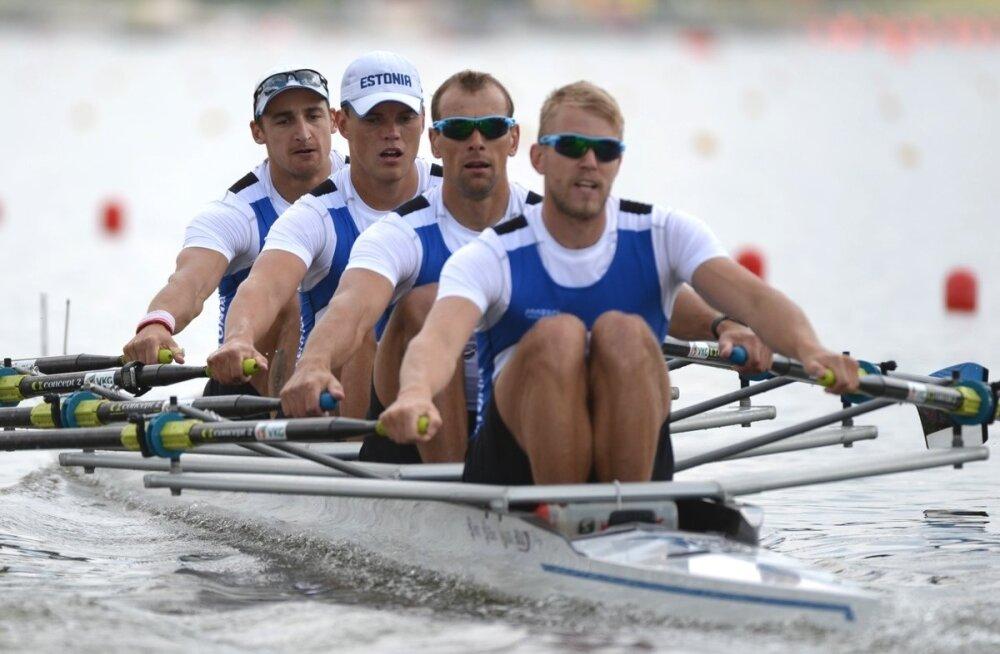 Olümpiaunistus elab: Eesti neljapaat pääses MM-il poolfinaali!