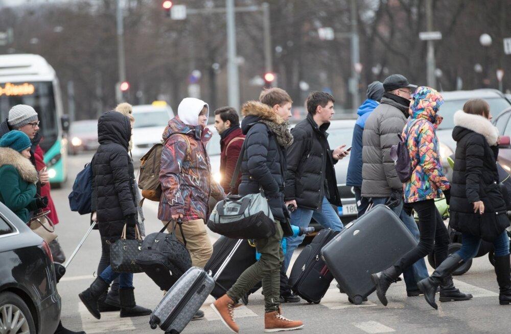 Moskva rong saabus Tallinna